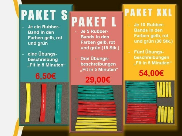 Rubber-Band Paket L (15er Set)